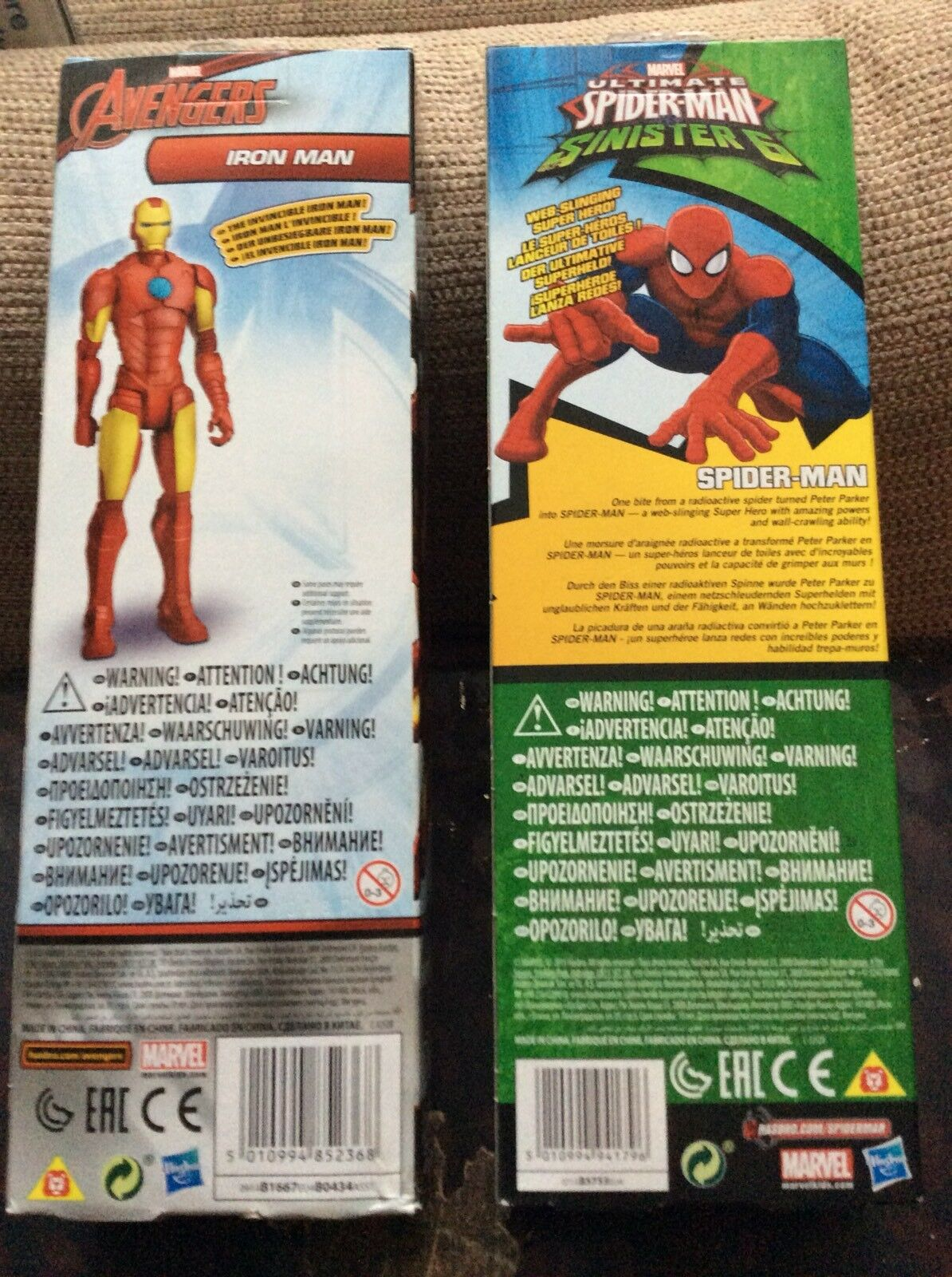 "2 Avengers And Spiderman 10"" Figures Spiderman And And And Ironman cf7bbf"