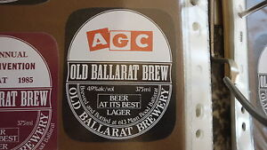 OLD-AUSTRALIAN-BEER-LABEL-OLD-BALLARAT-BREWERY-AGC-INSURANCE
