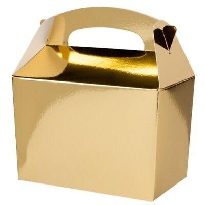 Dorado cajas para comida boda navidad fiesta de cumplea os infantil ebay - Cumpleanos infantiles comida ...