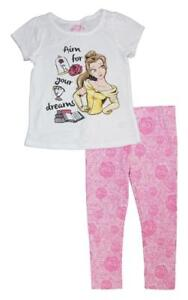 Disney Princess Girls Three-Piece Legging Set Size 2T 3T 4T 4 5 6 6X