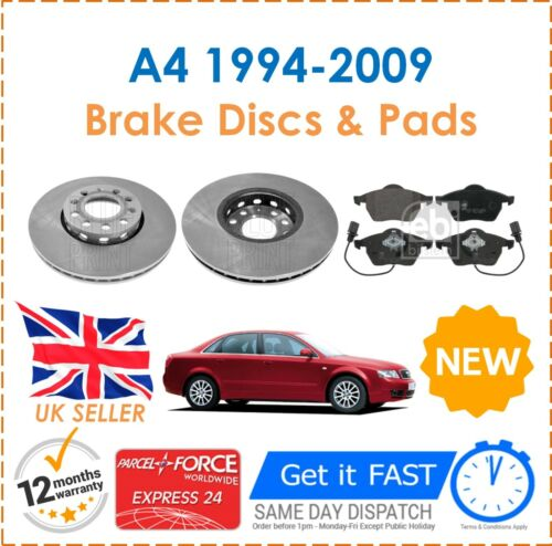 For Audi A4 Avant 1.6 1.8 1.9 2.5 2.8 3.0 1994-2009 Front Brake Discs /& Pads