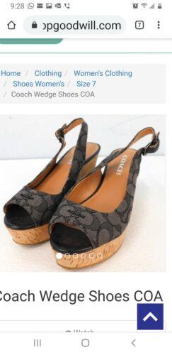 Coach Wedge Shoes COA