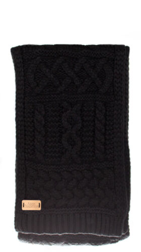Aran Traditions Womans Ladies Men Winter Warm Cable Knitted Style Scarf