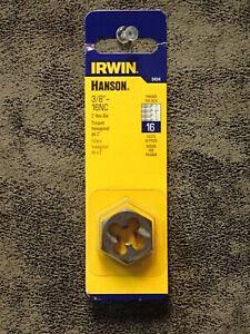 """Carbon Steel RHT 6640 Irwin Hanson M10-1.5 1/"""" Hex Rethreading Die"""