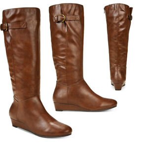 696f7b17355e STYLE   CO .Rainne Wedge Mid-calf Boots SIZE 5.5M BROWN 636193634939 ...