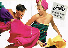 PUBLICITE ADVERTISING 054  1988   JALLA  draps de bain linge de maison ( 2 pages