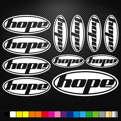 Hope Vinyl Decals Stickers Sheet Bike Frame Cycle Cycling Bicycle Mtb Road