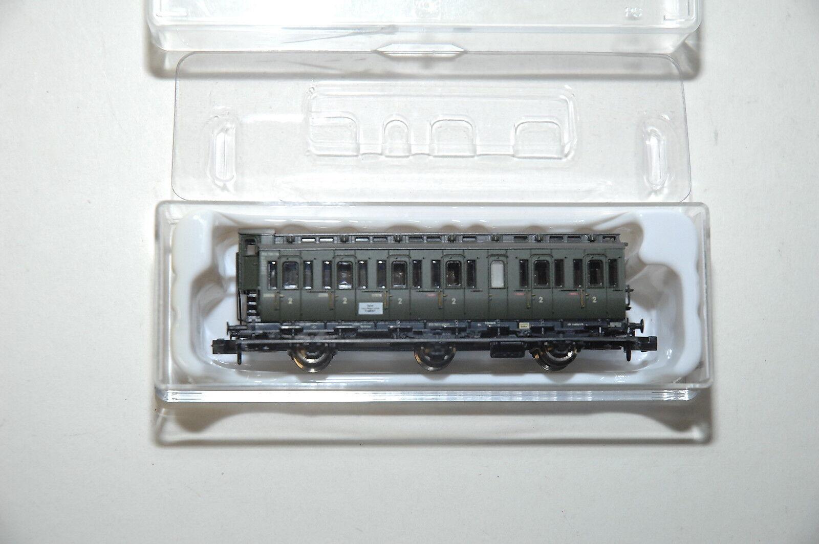 FLEISCHMANN 807001 carrozza con scompartimenti 3 assi Sistema frenante 2 kl. DB