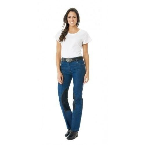 Ovation Riders Boot-Cut Jean Knee Patch Riding Breeches Mid-Rise Waist