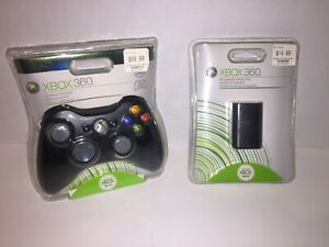 OEM Official Xbox 360 Wireless Controller GAMEPAD BLACK ELITE BATTERY COMBO