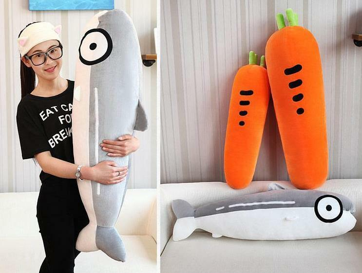 39'' Stuffed Salmon autorosso Plush giocattolo Pillow  Sleep Home Decoration bambino bambola Gift  marchi di stilisti economici