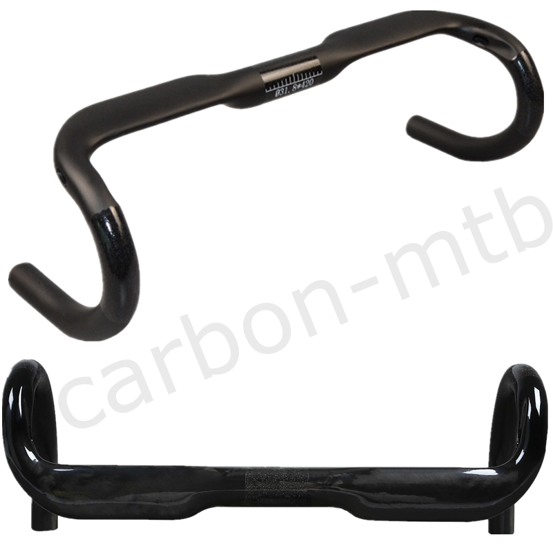 Bicycle Carbon Handlebar UD Matte Drop Bar Stems 31.8400 420  440mm Handlebar