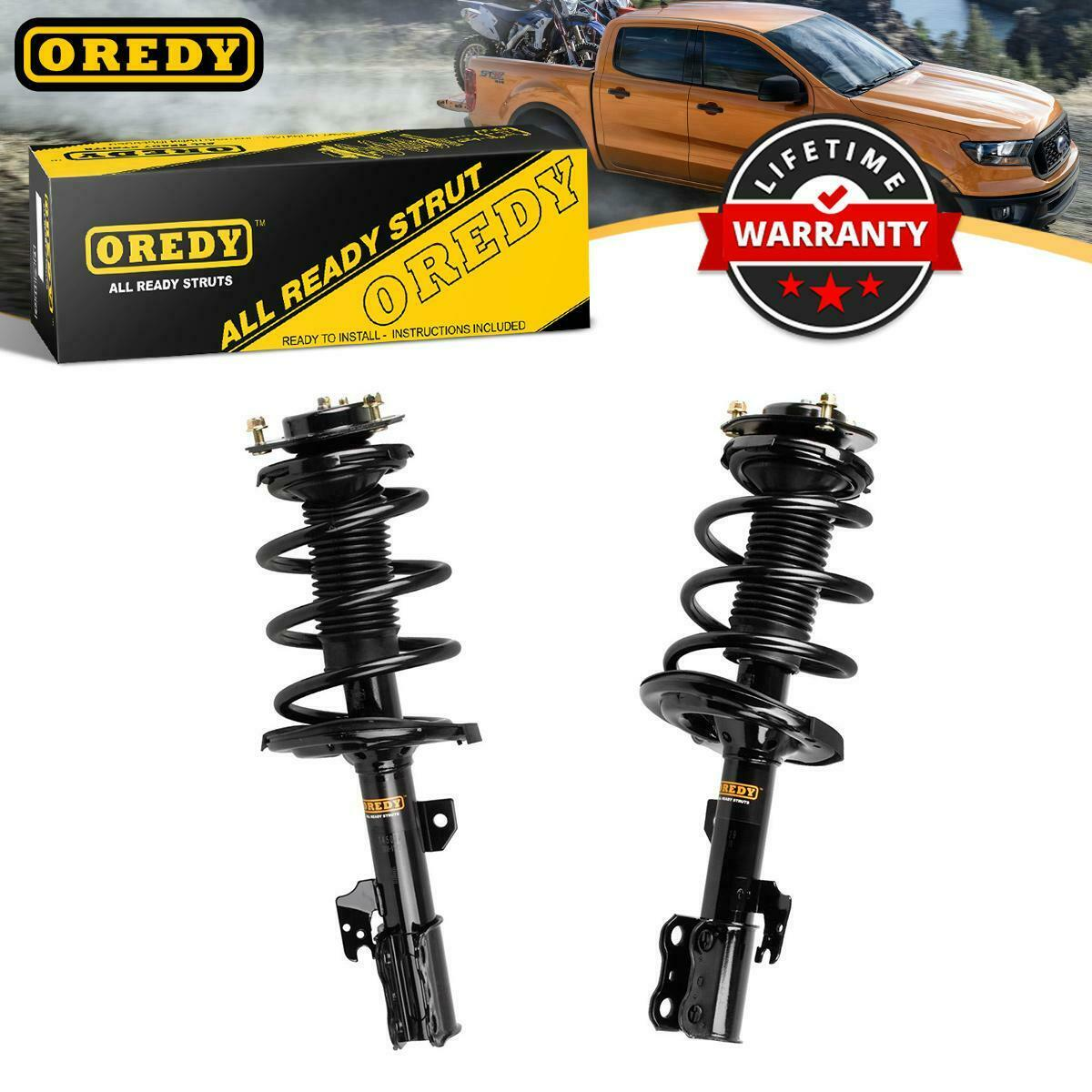 Complete Struts,ECCPP Front Pair Complete Strut Assembly Shock Absorber for 2007-2011 Chevrolet Silverado 1500,2007-2011 GMC Sierra 1500 Set of 2
