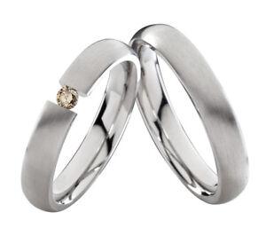 2-Eheringe-Trauringe-mit-echtem-Diamant-Verlobungsringe-aus-Edelstahl-ELB6