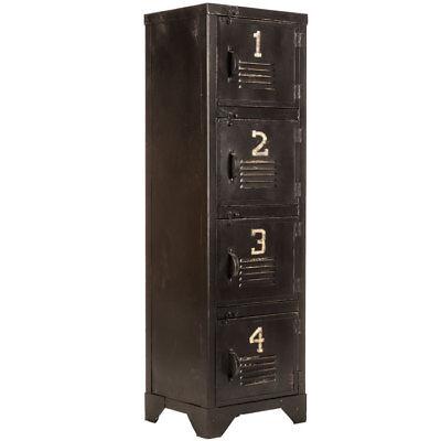 Onafhankelijk Vintage Replica Black Metal Rustic Cabinet Storage Locker Home Decor Duidelijke Textuur