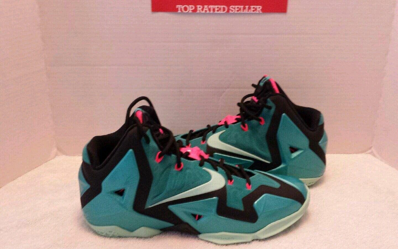 Nike LeBron XI South Beach sz- sz- Beach turquesa rebajas de zapatos de baloncesto de la temporada 69bdb7