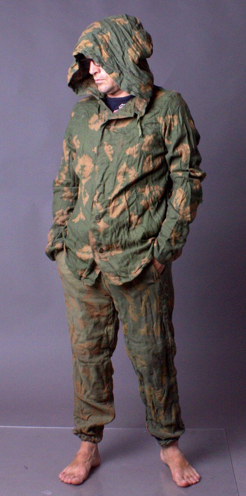 80s New Vintage USSR MILITARY BDU Kzs Soviet Army Soldier Uniform Camo Suit Sz 2