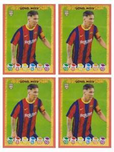 4 X Lionel Messi Sticker Panini Fifa 365 2020 2021 #145 Invest