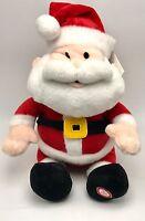 Holiday Santa Plush Animated Music Led 10 Inch Tall