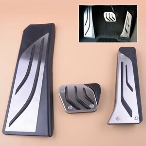 Stainless Steel Brake And Gas Pedal Covers For BMW 1 Series 2012-2018 F20//F21
