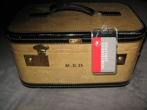 Northwest Airlines NW NWA Vintage Logo Playing Card Luggage Name Tag Tags Set 3