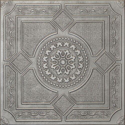 R30 Antique Silver On SALE Decorative Texture Ceiling Tiles Glue UP
