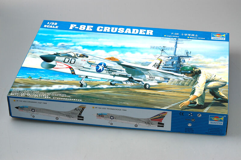 Trumpeter 1 32 Scale Plane American F-8E Crusader Fighters Aircraft Model 02272