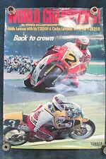 RARE YAMAHA DEALER POSTER 1986 WORLD CHAMPIONS EDDIE LAWSON YZR250 YZR500 LAVADO