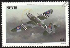 RAF Supermarine SPITFIRE Mk.XXIV 24 Griffon Variant Aircraft Stamp (1986 Nevis)