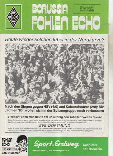 BL 83//84 Borussia Mönchengladbach Borussia Dortmund
