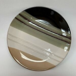 Home-Trends-Jazz-Dinner-Plate-Multi-color-Black-Beige-Green