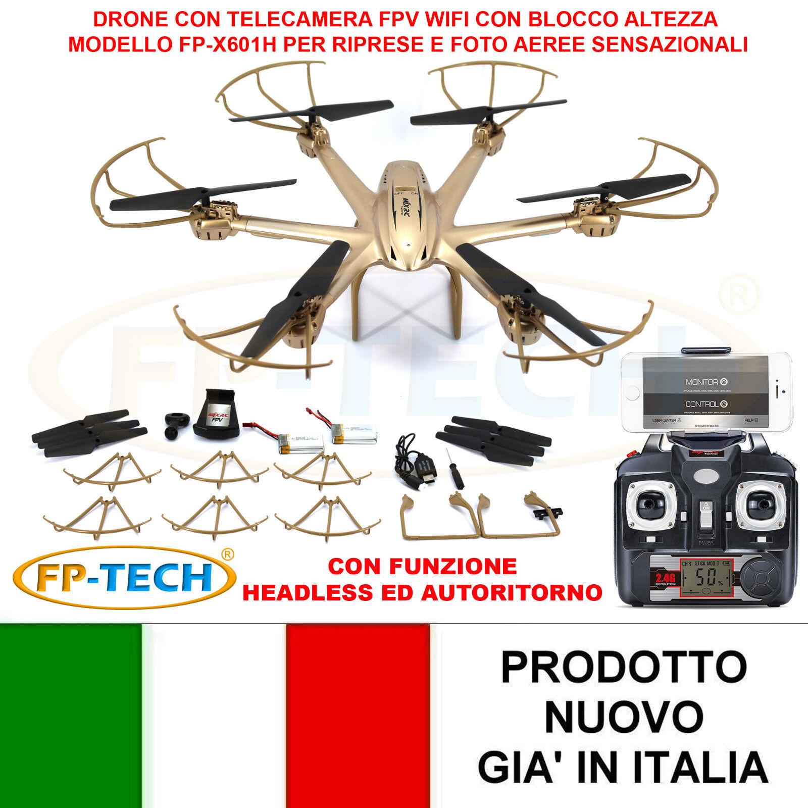 DRONE ESACOTTERO RADICOMANDATO HEADLESS WIFI FPV 3D CAMERA HD HD HD VIDEO FOT USB LED a3cc6c