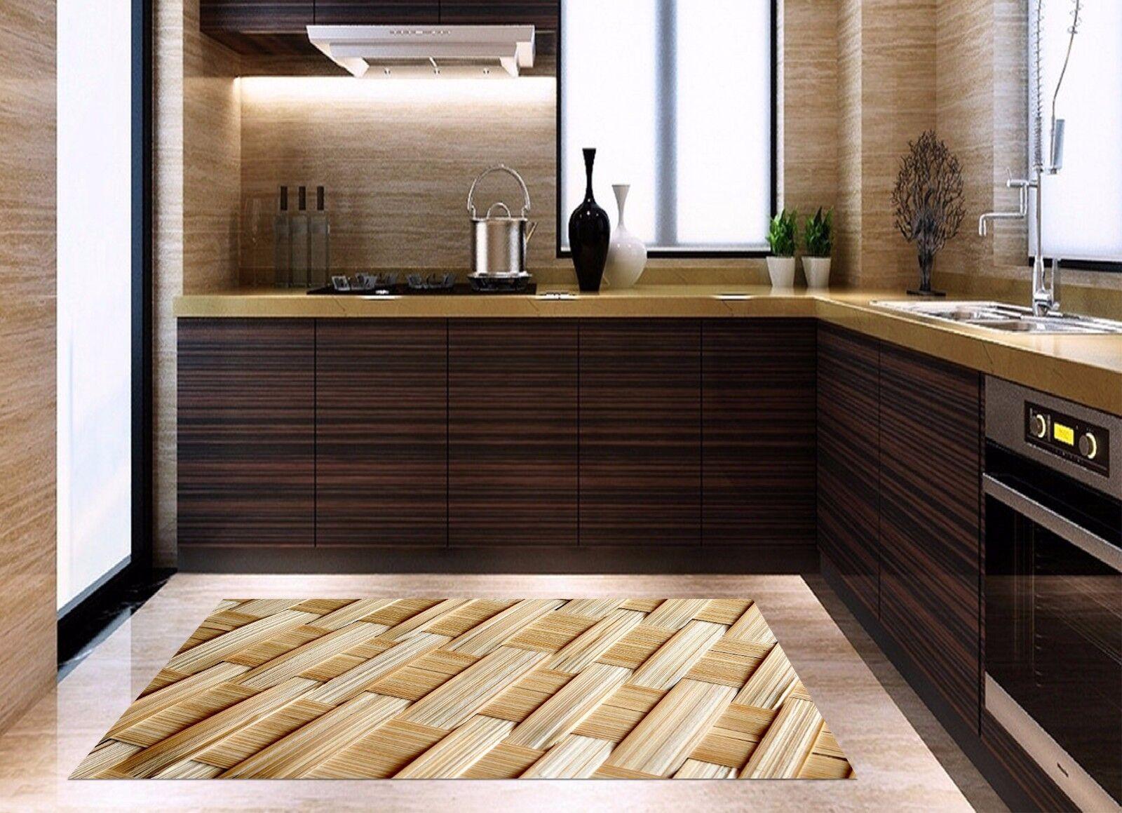 3D Bamboo Weave 2 Kitchen Mat Floor Murals Wall Print Wall Deco AJ WALLPAPER AU