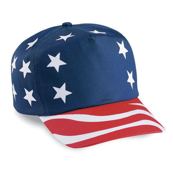 Wholesale Bulk Lot 12 American Flag 5 Panel Hats - VERY PATRIOTIC! Free  Ship!