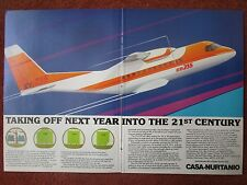 7/1982 PUB AVION CASA NURTANIO CASA CN-235 AIRCRAFT FLUGZEUG ORIGINAL AD