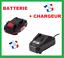 BATTERIE-Parkside-20V-Batterie-2Ah-avec-Chargeur-pour-X20V-Appareils miniature 1