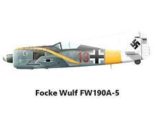 "Model Airplane Plans (RC): Focke Wulf FW109A-5 Scale 45""ws for .25-.40 Engine"