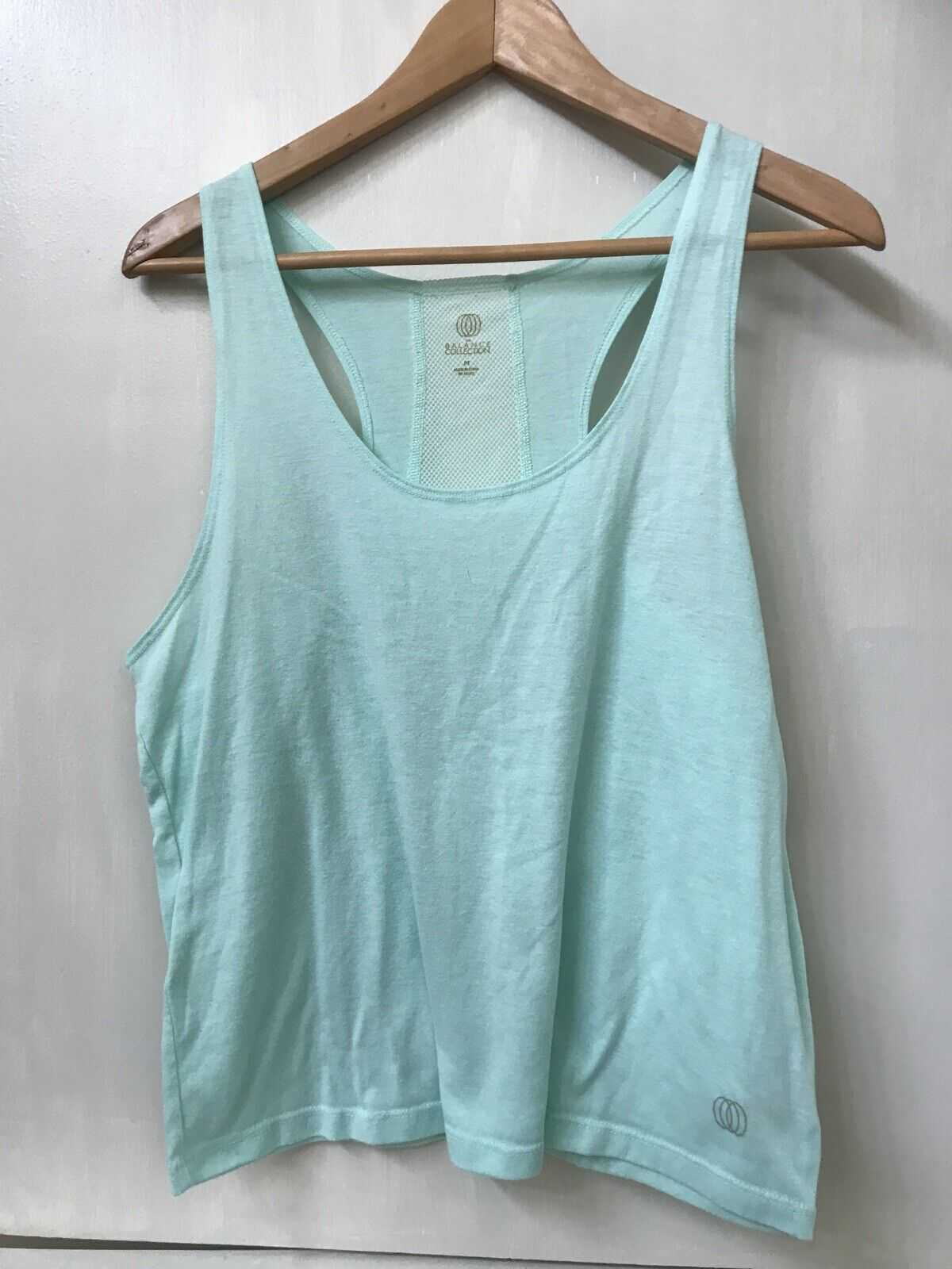 The Balance Collection Mint Green Yoga Mesh Back Tank Top Size M