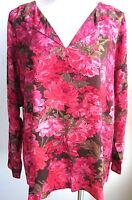 J.jill Autumn Roses Shirt Xl $79