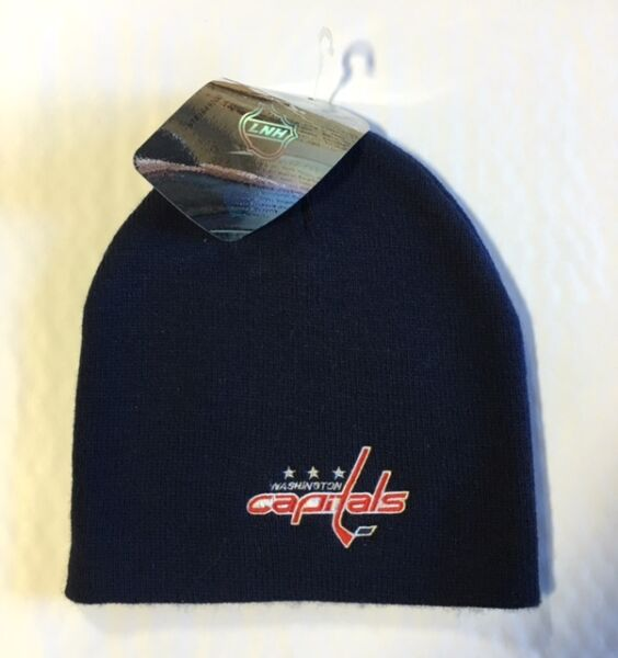 5ae4cace5a8 Washington Capitals Knit Beanie Toque Winter Hat Skull Cap NEW NHL Blue