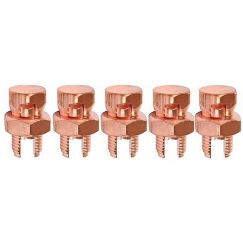 5 Pack High Strength Split Bolt Connectors 4 Gauge 8 Gauge Solid UL Listed SB-4