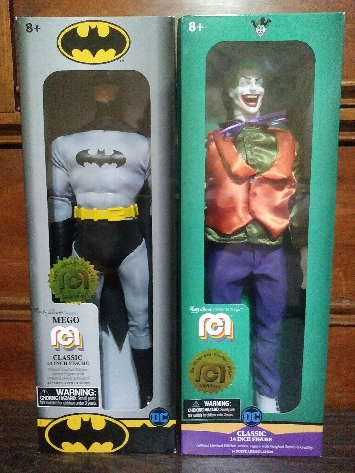 MEGO TARGET EXCLUSIVE BATMAN and THE JOKER 14 INCH ACTION FIGURES  NEW IN BOX