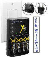 4aa Battery & Dual Volt Charger For Sanyo Vpc-s770 Vpc-s670