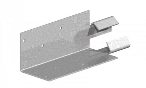 "Galvanised Finish 3/"" Arris Rail Mortice Repair Brackets for 75mm Arris Rails"