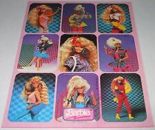 Vintage 1991 Barbie Doll Fashion Clothing Stickers~Unused Sheet~Mattel~New