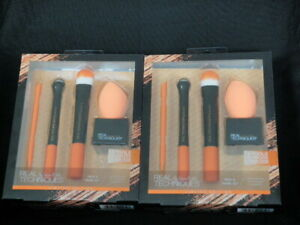 Details about LOT 2 REAL TECHNIQUES 5 TOOLS FLAWLESS COMPLEXION  PROFESSIONAL MAKEUP BRUSH SET