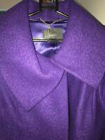 Coast Wool Winter Coat Size 12 in purple