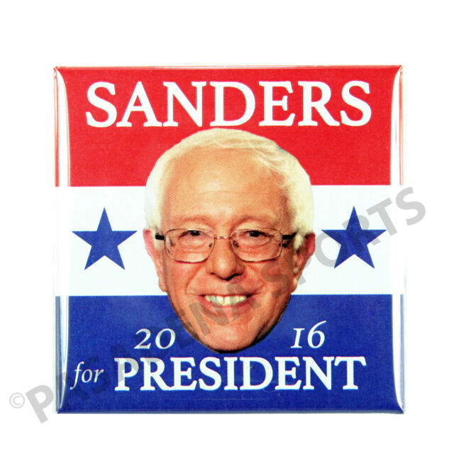 2016 BERNIE SANDERS for PRESIDENT OVAL MAGNET CAMPAIGN BUTTON b110s