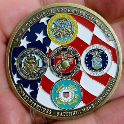 US Army Navy Air Force USCG USMC Department Of Defense Military Challenge Coin