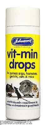 Johnsons Vit-min DropS multi vitamin supplement GUINEA PIG RAT HAMSTER MICE